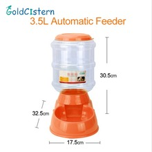 3.5L Large Automatic Pet Feeder For Cats Dogs Plastic Dog Food Bowl Pets Food Distributor Pet Product