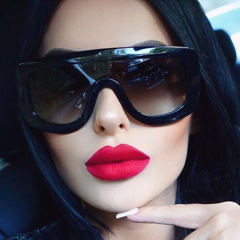 TESIA Integrated Sunglasses Women Brand Designer Stars Kim Kardashian Eyewear Contact Lenses Female Shades T147