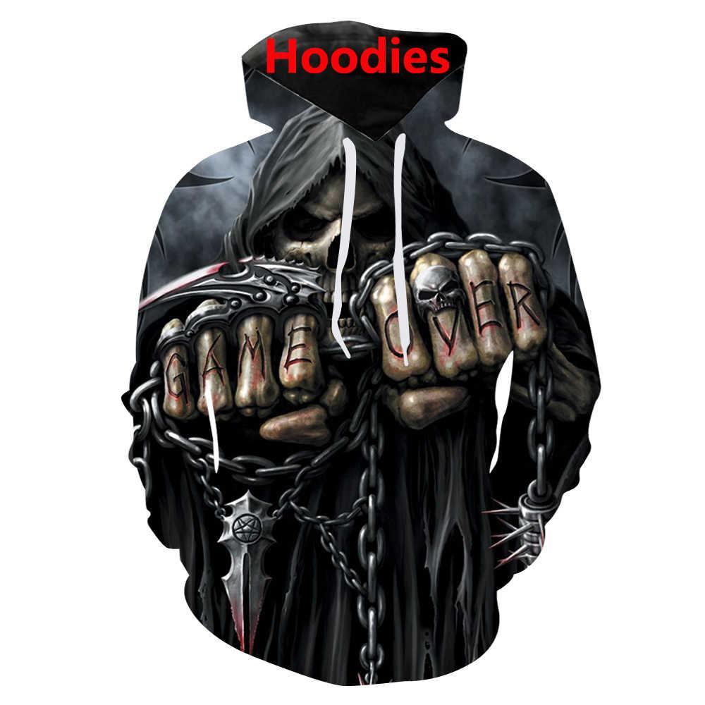 Reaper trò chơi qua đầu lâu 3D in hình t Áo sơ mi/Quần Tây Nam/Áo khoác/quần thời trang nam Harajuku ngộ nghĩnh chui đầu Tee đầm Dạo Phố hip hop