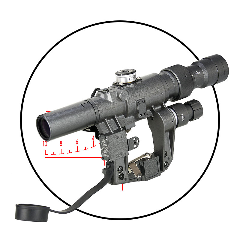 Tactical 3-9x24 Rifle Scope Black Color For Hunting Shooting PP1-0329 1 5 4 28 rifle scope rifle scope shooting hunting pp1 0165