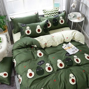 Image 4 - Solstice Cotton Pastoral Flower Cartoon Style Fashion Bedding Bed Linen Bed Sheet Duvet Cover Pillowcase 4pcs Bedding Sets/Queen