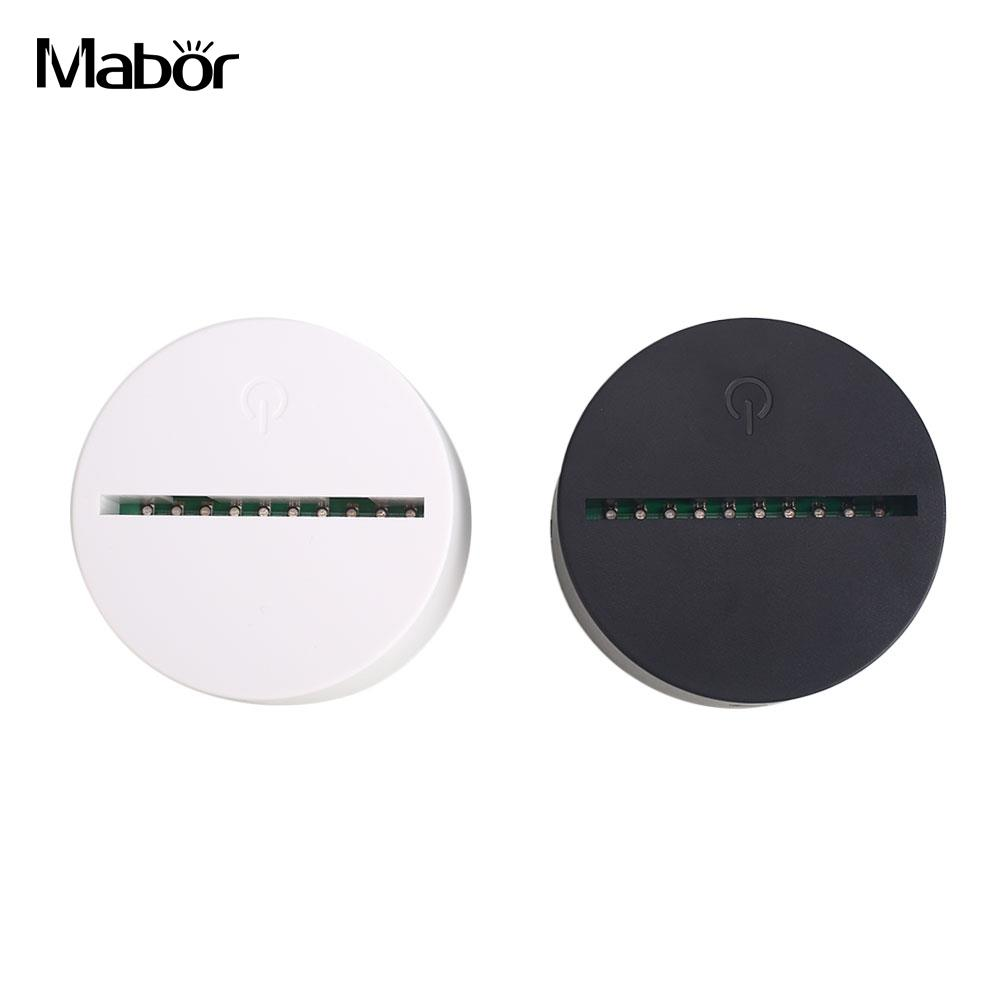 USB Cable Touch Lamp Bases For 3D LED Night Light Replacement Colorful Light Base Table Wedding Christmas Decor Holder Wholesale