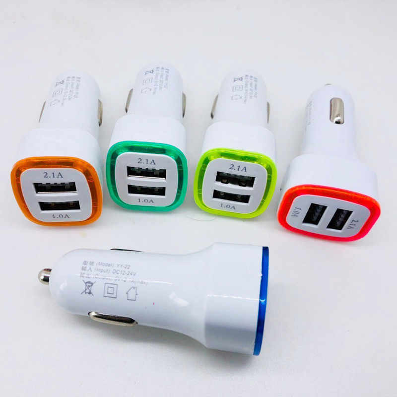 العالمي جديد وصول الصمام المزدوج USB ميناء 5 V 2.1A سريع سيارة مهايئ شاحن ل فون Xs X Xr ماكس Xiaomi redmi ملاحظة 5 6 7 برو