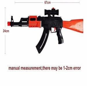 Image 5 - Classic AK 47 Assault Rifle Toy Gun Shooting Soft Bullet Water Absorbent Bullet Blaster Gun Toy Boys Best Gift