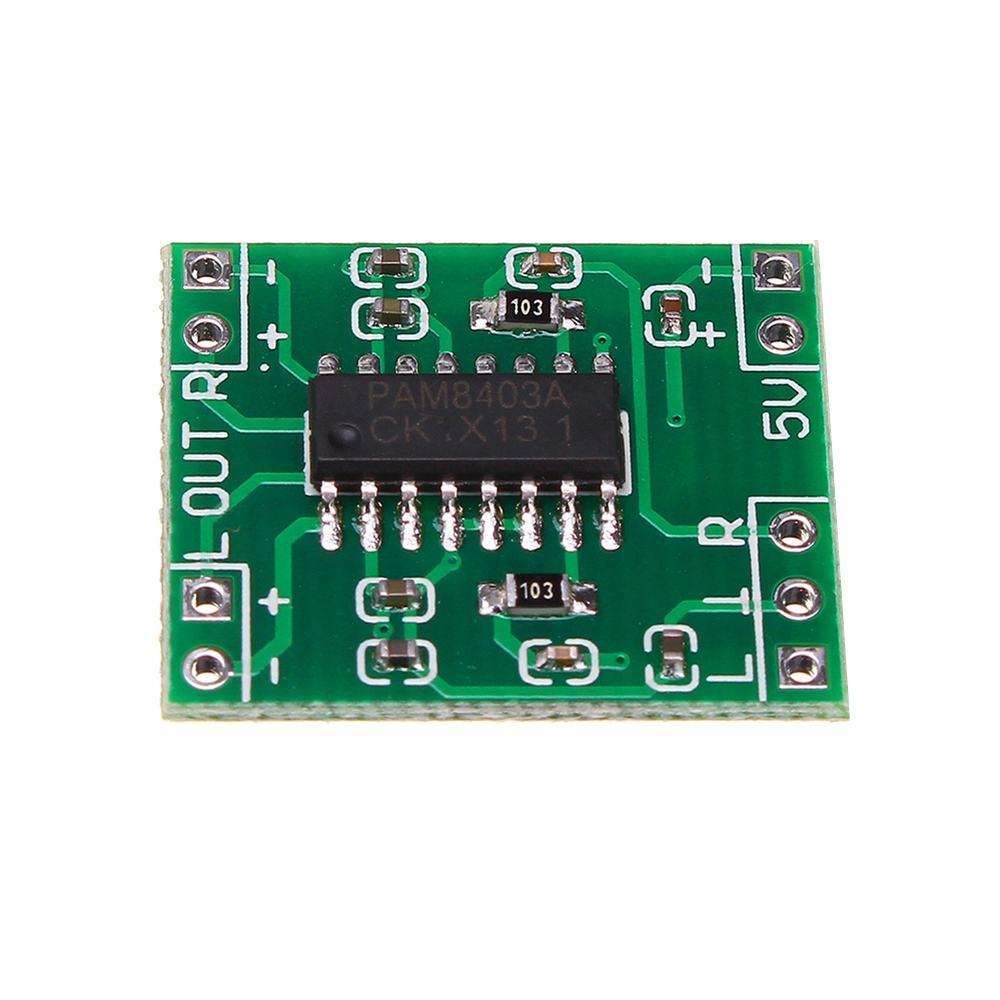 LEORY Mini DC 5V 3W*2 Class D Audio Digital Power Amplifier Board For LCD TVs// Laptop /Speakers / DVD