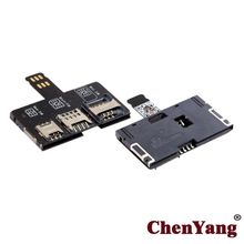 Zihan  SIM Activation Tools Card Converter to Smartcard IC Card Extension for Standard Micro SIM Card and Nano SIM Card Adapter Kit multi 4 in 1 smart card pinboard adapter converter for sim micro sim nano sim card iso7816 smart ic card