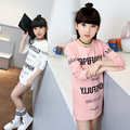 Girls clothes Roupas infantis menino Kids Long t-shirts fashion long-sleeved T-shirt children letters printing Vents t shirt