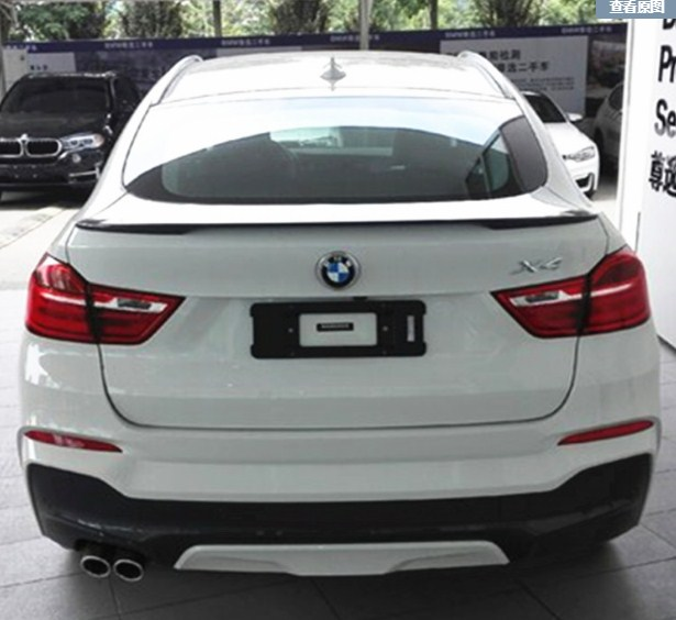 For BMW F26 X4 Spoiler P style High Quality ABS Material Car Rear Wing Primer Color 2015-2018