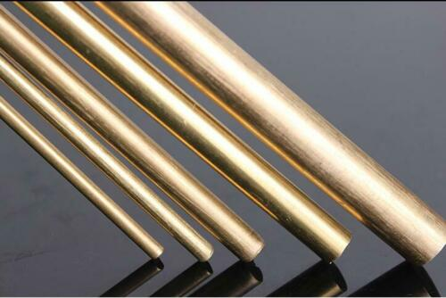 Brass Rod Bar 2mm 3mm 4mm 8mm 10mm Round Rod Blank Scales Blade Handle M2-M20 500mm Length