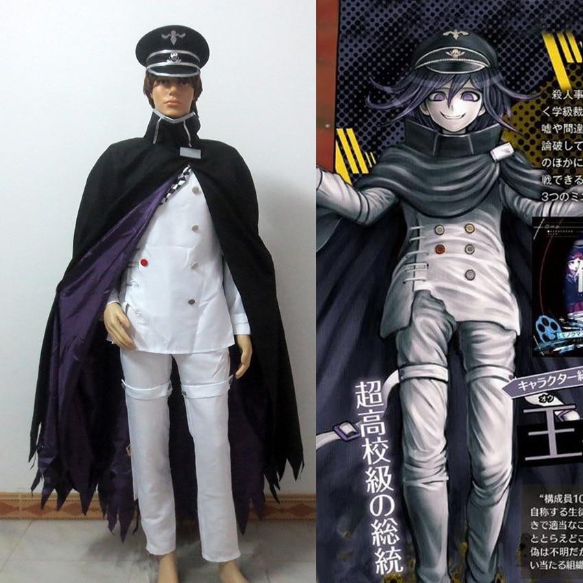 Danganronpa V3 Ouma Kokichi Cosplay Costume Game School Uniform Suit Outfit Clothes Full Set Custom Made Any Size