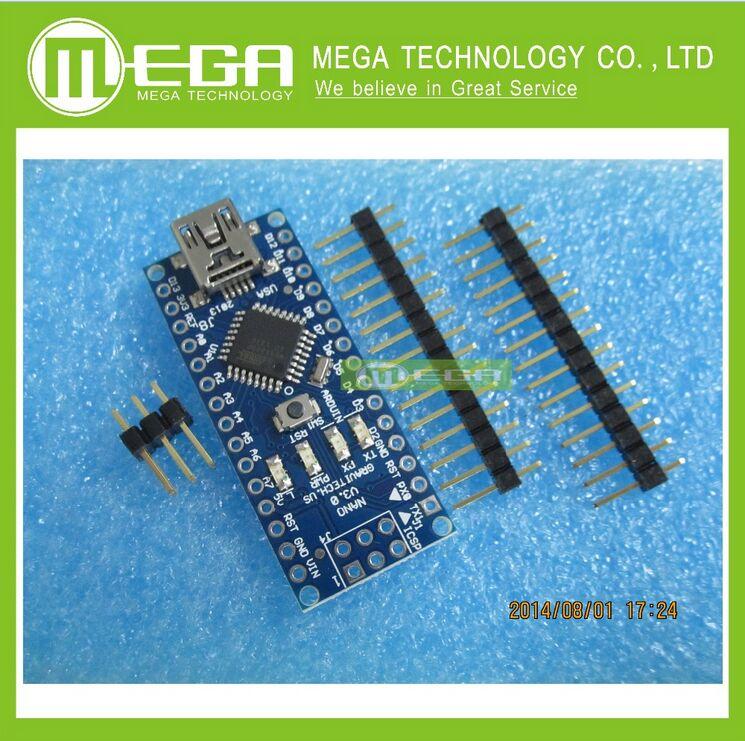 Free shipping ! 5PCS Nano 3.0 controller compatible for arduino nano CH340 USB driver NO CABLE nano v3.0