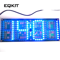 ECL 132 DIY Kit Clock Timer Blue Screen Display Kits Electronic Suite With Patch Remote Control 132pcs 5mm LEDs Display Timer