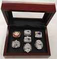 Alloy Rings Sets for Replica Super Bowl 7pcs/Packs New England Patriots Championship Ring With Wooden Box
