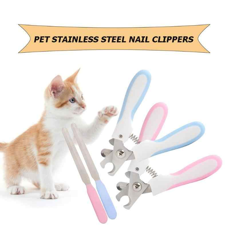 Pet Toe Care Stainless Steel Dogs Cats Claw Nail Clippers Cutter Nail File