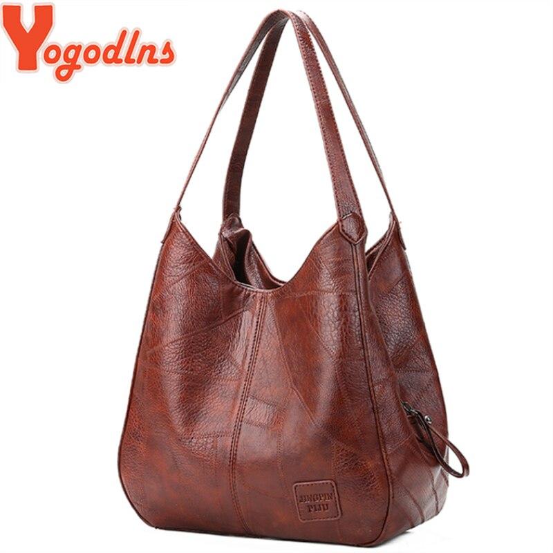 Yogodlns Vintage Frauen Hand Tasche Designer Luxus Handtaschen Frauen Schulter Taschen Weibliche Top-griff Taschen Mode Marke Handtaschen