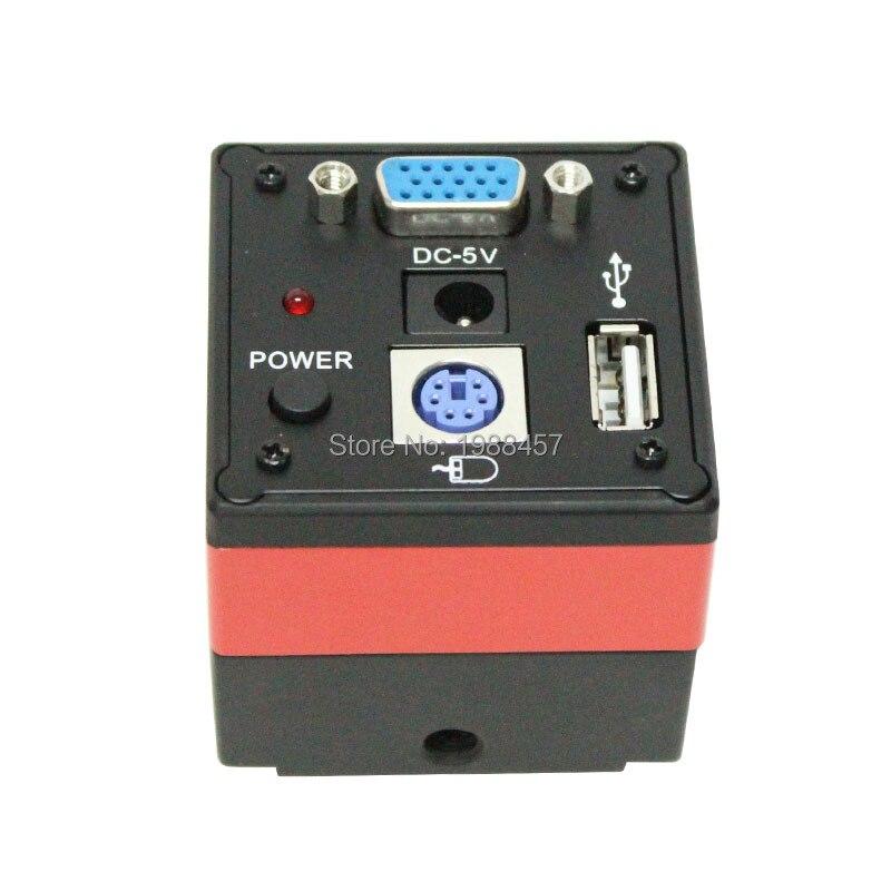 VGA HD caméra industrielle haute vitesse 60 cadres avec U disque souris mesure Microscope caméra Photo vidéo