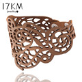17KM Hollow Design Wholesale Jewelry Charm Faux Leather Bracelet Braided Rope Wristband Bracelets For Women