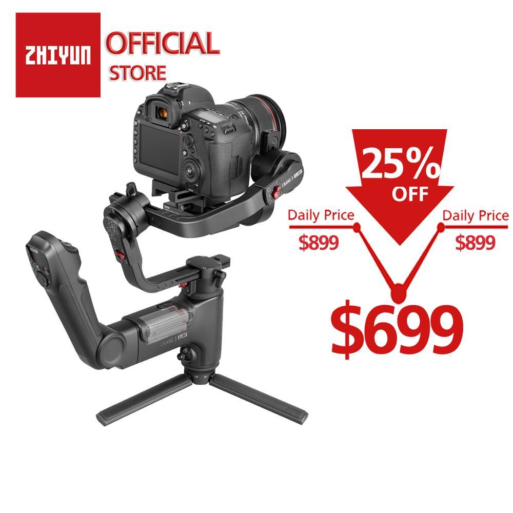 ZHIYUN grue officielle 3 laboratoire 3 axes cardan portable sans fil 1080 P FHD Image Transmission caméra stabilisateur pour DSLR VS grue 2