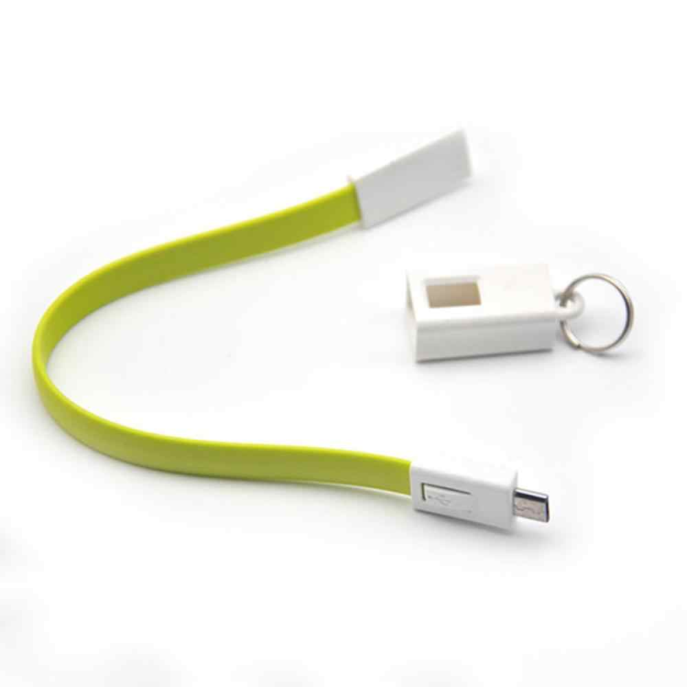 multifunction Portable Type C Cable Micro USB Charger Key Chain Green Orange Rose Blue Key Ring Cable Cord Flash Key Chain