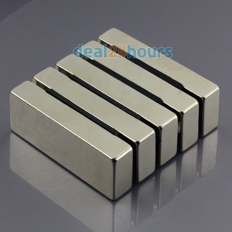 OMO Magnetics 5pcs N50 Super Strong Block Cuboid Neodymium Magnets 60 x 20 x 10mm Rare Earth omo magnetics 10pcs big bulk super strong cuboid block magnets rare earth neodymium 50 x 50 x 5 mm n35 wholesale