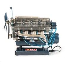 Nokta V8 motor tertibatı Model şeffaf görsel Runnable doğum günü hediyesi oyuncaklar