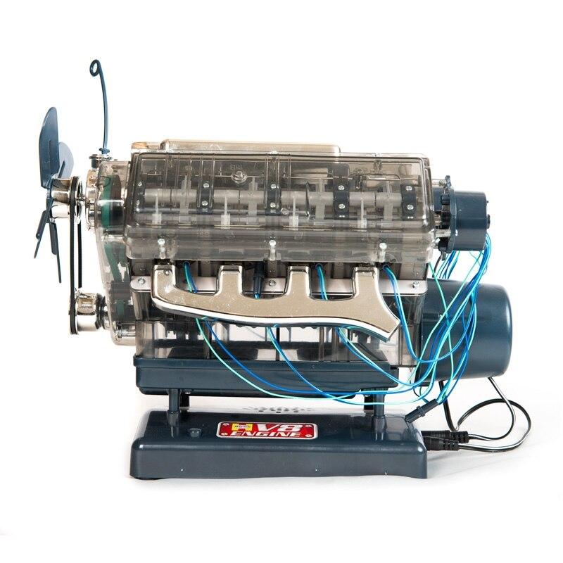 Spot V8 Engine Assembly Model Transparent Visual Runnable Birthday Gift Toys