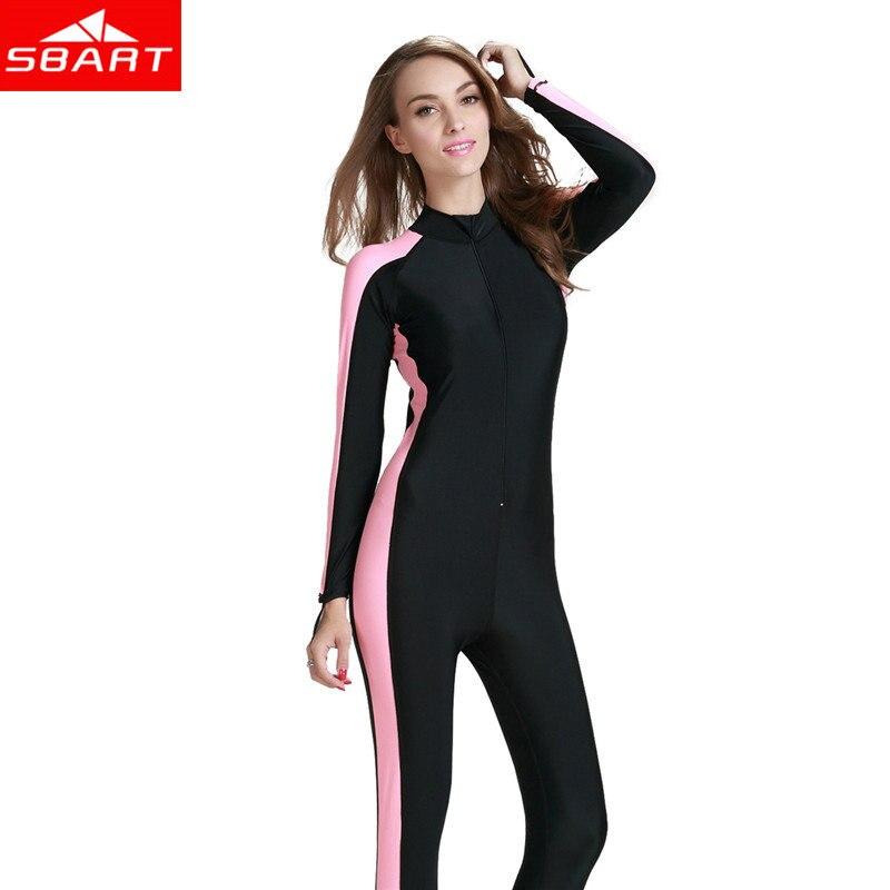 5c754848567e SBART traje de buceo para las mujeres traje de Surf traje de baño traje  para nadar lycra traje de cuerpo completo para Surf trajes de neopreno
