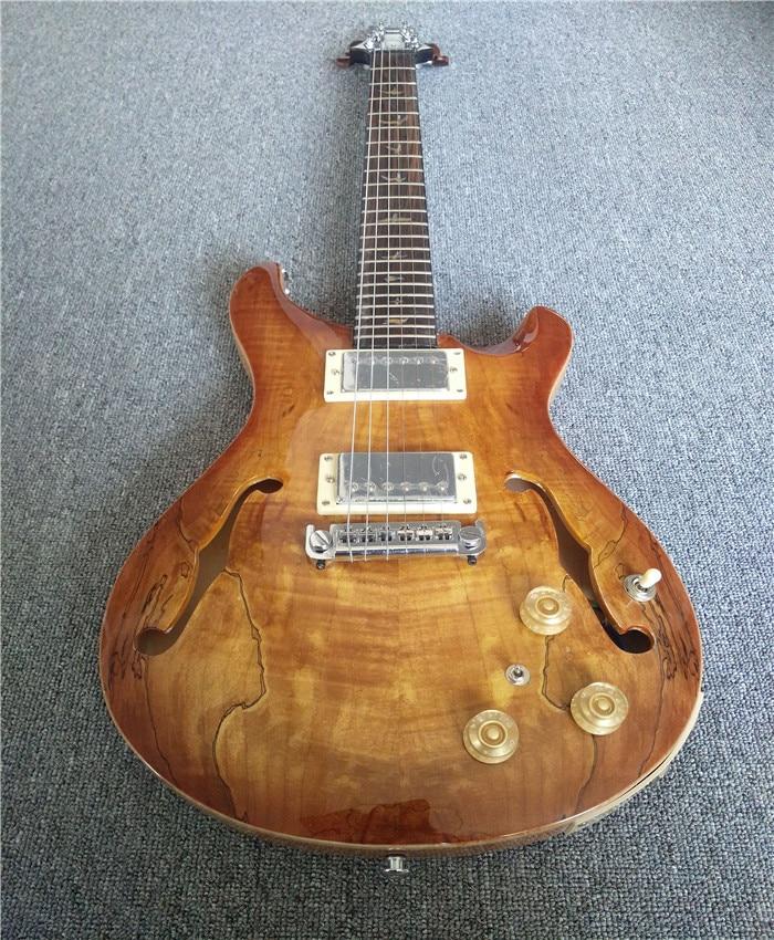 Eagle. Butterfly Guitar Bass Custom Shop Private Stock #5986 Hollowbody II Piezo/Shamrock Smoked Burst Custom22 In Stock