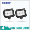 Oslamp 30W 4inch 2pcs CREE Chips Flood Beam LED Work Light 12V 24V 6000K Auto Led Lamps for Car ATV 4WD Wagon Camper Headlights