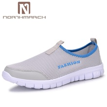 NORTHMARCH Men Shoes Summer Fashion Breathable Mesh Men Casual Shoes Slip-On High Quality Flat Shoes For Men Zapatillas Hombre