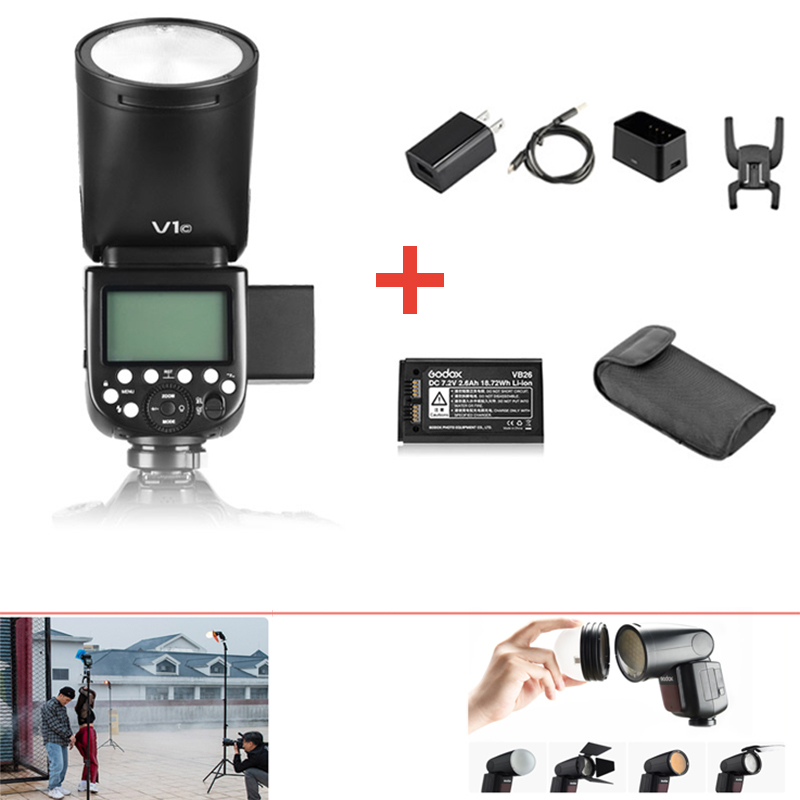 Godox V1 V1S/V1N/V1C/V1O/V1F TTL Li ion Flash Flash pour Nikon/Sony/Canon/Fujifilm/Olympus w/XPRO déclencheur-in Clignote from Electronique    2