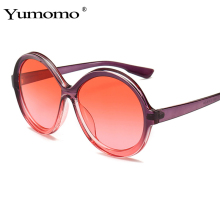 YUMOMO Brand Designer Vintage Sunglasses Women Gradient Round Retro Glasses UV400 Sun Eyewear Accessories