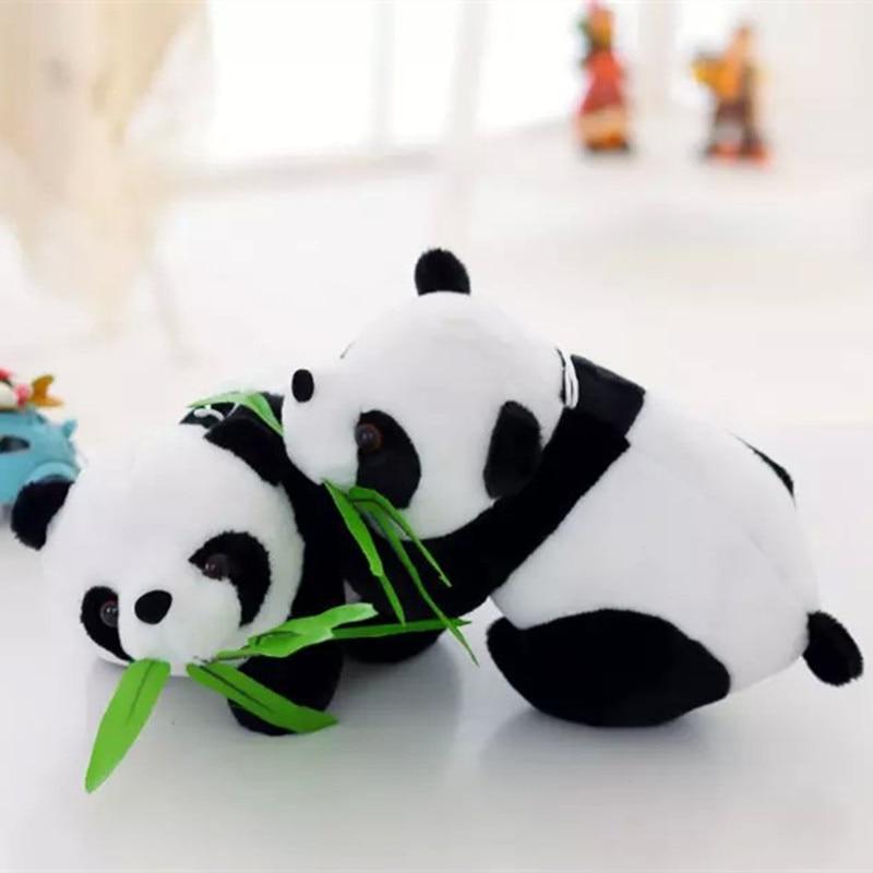 Panda βελούδινο παιχνίδι Panda με μπαμπού Μίνι μέγεθος κούκλα panda 15cm μέγεθος 20pcs / lot