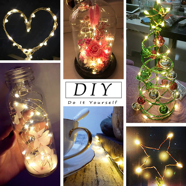 AA Battery String Lights Copper Wire LED Lights Decoration Fairy Lights For Birthday Party Garland Wedding