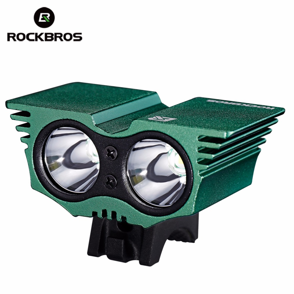 ROCKBROS Bicycle Light Waterproof Rechargeable Cycling Flashlight Power Bank Headlight Front USB Lamp Cap MTB Bike Accessories