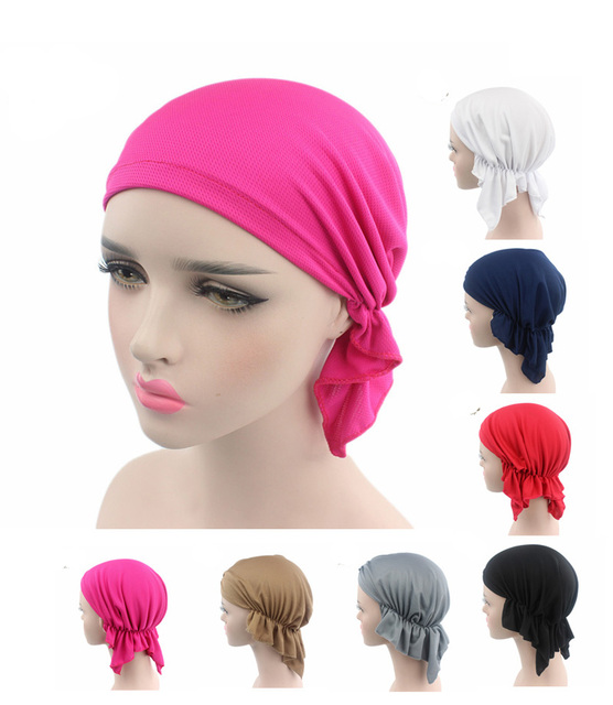 NEW Breathable Bandana Scarf Pre Tied Cotton Chemo Hat Beanie Turban  Headwear for Cancer Patients 2899333d02e