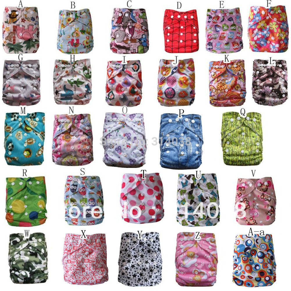 New Arrived New Design 2sets/lot    2diaper +2bamboo Insert (5layer) 0-5 Years Baby Used