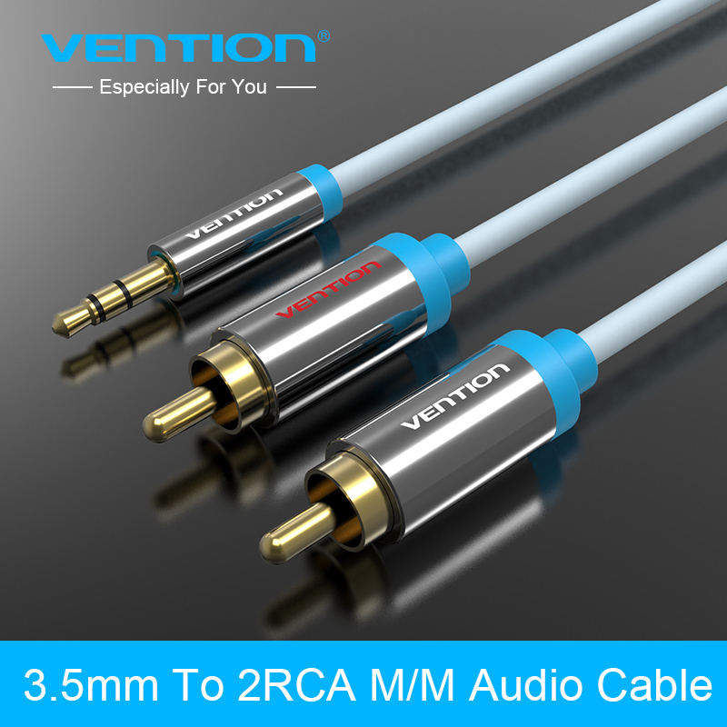 Vention 3.5mm RCA Audio Cable Jack to 2 RCA Aux Cable for Edifer Home Theater DVD VCD iPhone Headphones hifi rca cable1m 2m 3m кабель jack jack vention кабель minijack jack 2 m