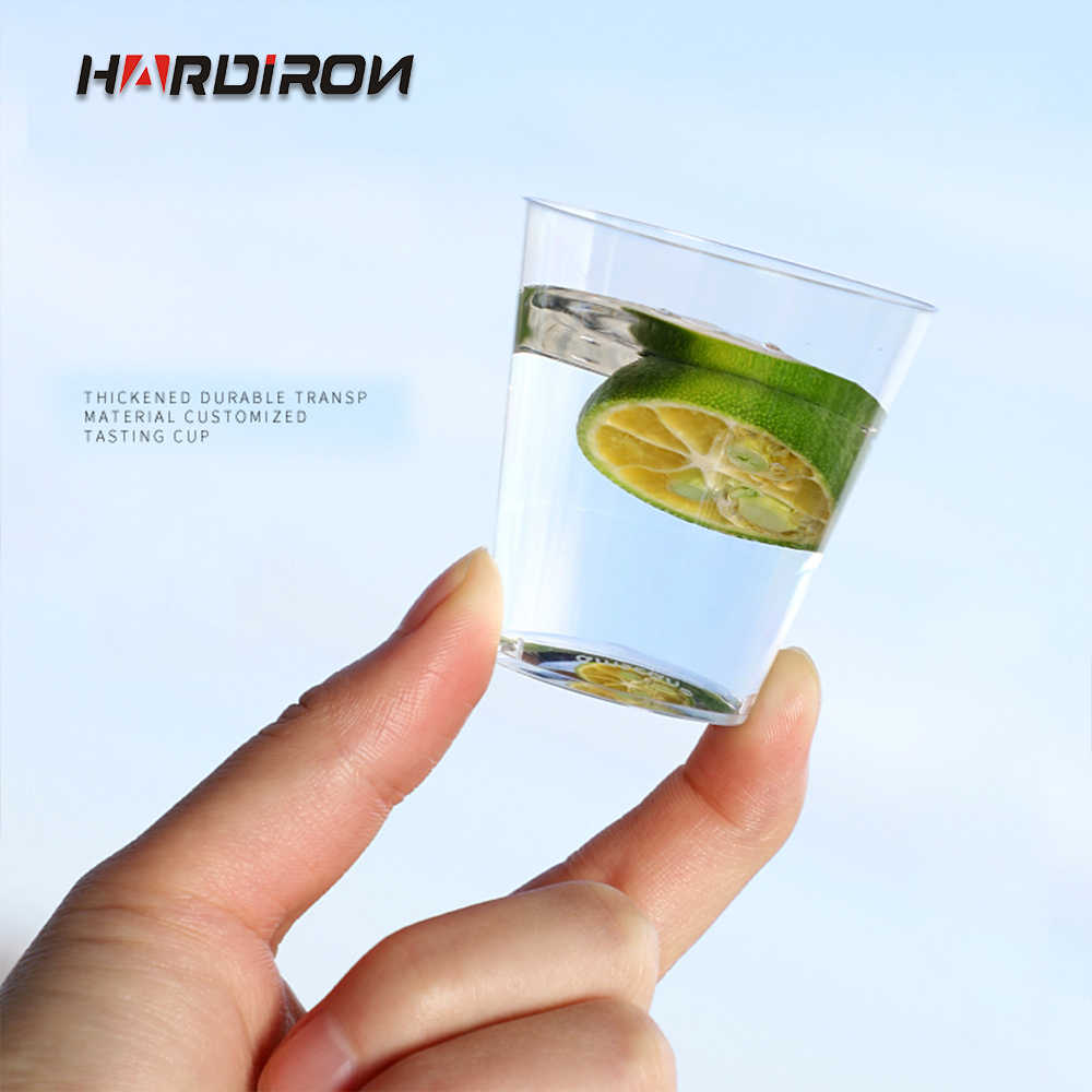 HARDIRON 1/2OZ Disposable Mini Plastic Transparent Cup 30/50ml Supermarket Cake Milk Tea Tasting Cup Party Wedding Drink Cup
