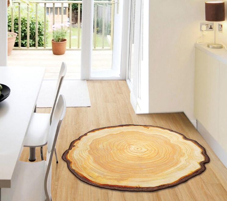 90X100 CM Pastora anneau annuel rond 3D tapis pour chambre ordinateur chaise petits tapis enfants chambre tapis de jeu tapis de Table basse