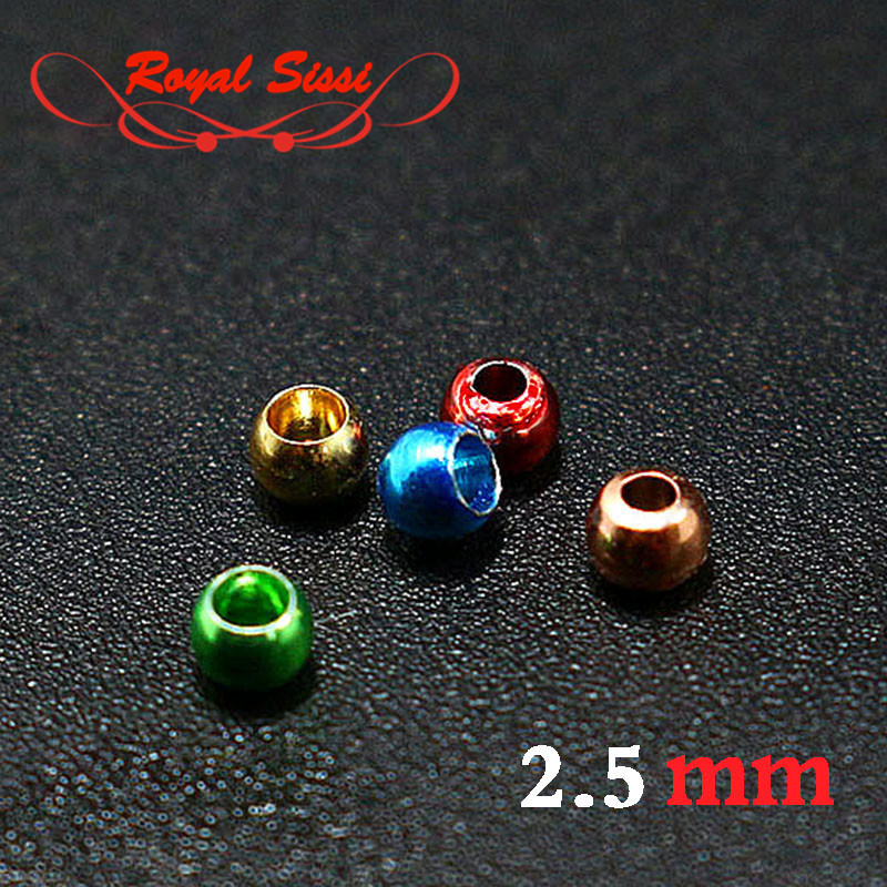 20pcs/bag 5 colors 2.5mm fly tying nymph head brass beads brass & copper material colorful head bead for fly fishing flies pupa mnft 10 colors select 0 3mm 30m copper wire fly fishing lure bait making material midge larve nymph fly tying material