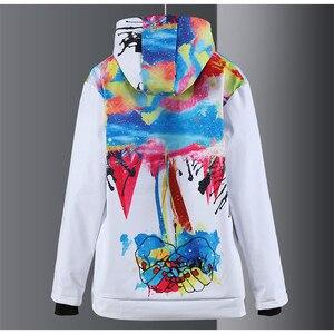 Image 4 - 새로운 남성과 여성 스노우 슈트 야외 스포츠웨어 스노우 보드 스키 스케이트 등산 까마귀 방수 겨울 의상 자켓