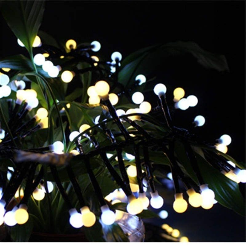 400 led LED Frosted Cherry String Lights Fairy Wedding Party Valentine's Day Garland Waterproof Outdoor Garden Street Lamp Decor пуф dreambag круг cherry