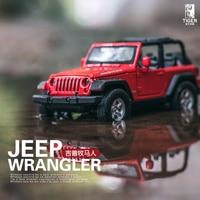 1 32 JEEP Wrangler Sound And Light Back Power Alloy High Simulation Car Model Children Car
