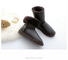 Australia Classic fashion boots women boots Nature fur Wool real sheepskin leather snow boots for women warm shoes High Quality
