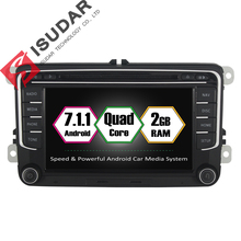 Android 7.1.1 Two Din 7 Inch Car DVD Player For New VW/Volkswagen/POLO/PASSAT/Golf/TIGUAN/BORA RAM 2G WIFI GPS Navigation Radio
