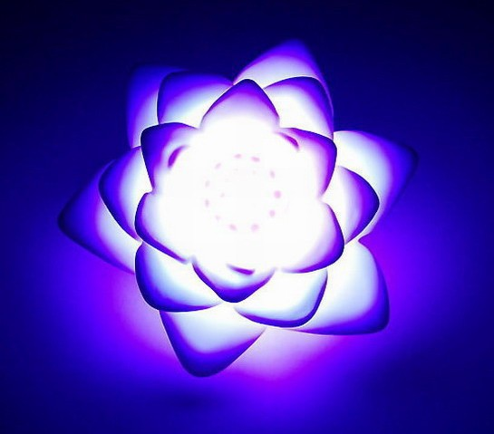 [20pcs/lot] Novelty Items Romantic Multi-Color Changing Lotus LED night Light lamp for cristmas Free shipping