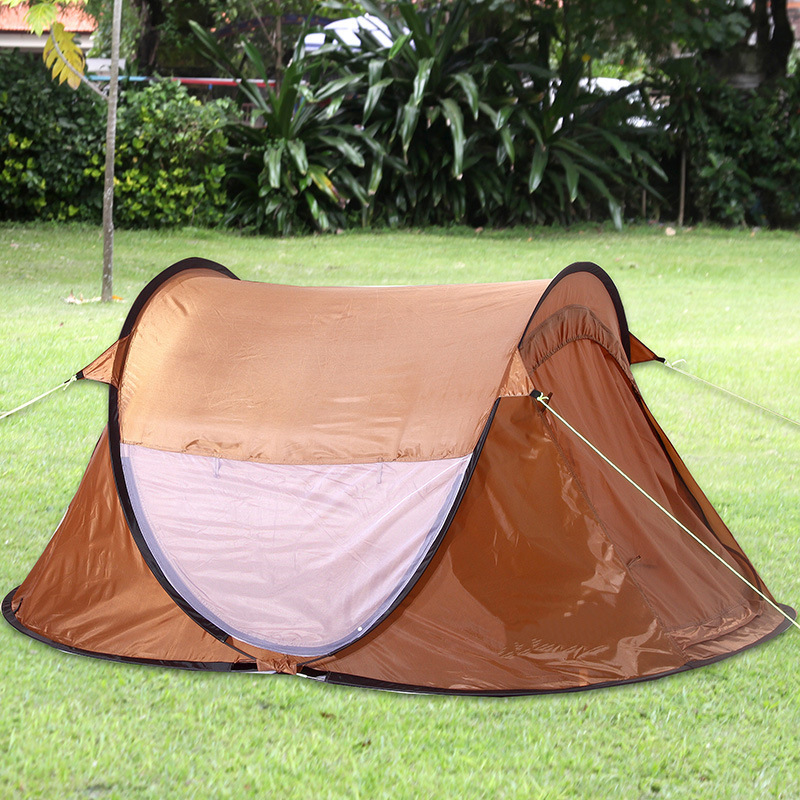 235*145*110cm Automatic Tents Waterproof One Single Hiking 2 Person Camping Tent Windproof Fishing Tents China Shop Online wnnideo outdoor automatic tent single double person wind rain resistant fishing camping traveling tents gray
