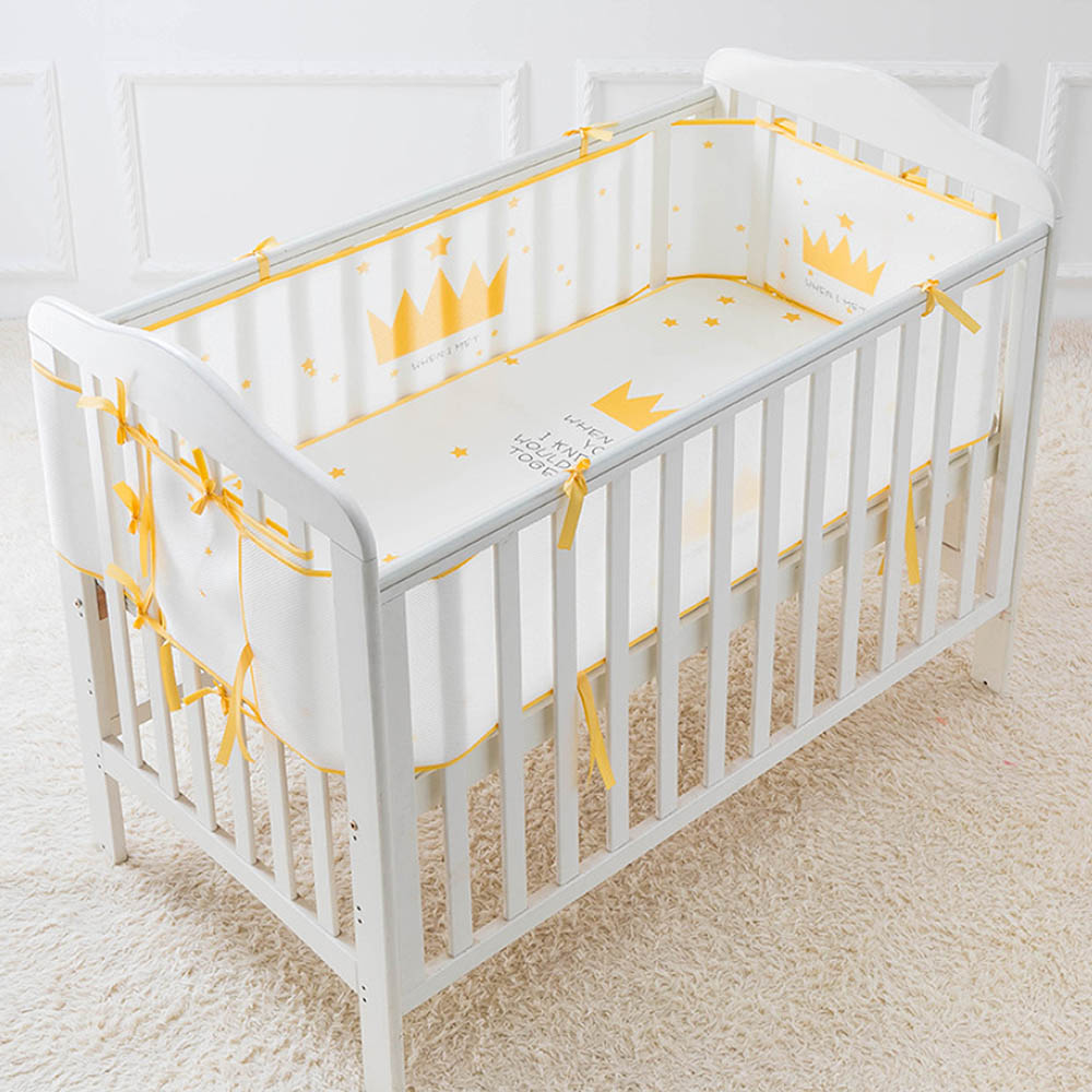 Cotton Baby Bed Bumper Kit Crib Enclosure Summer 3D Sandwich Mesh Baby  Bed Enclosure Baby Room Decor