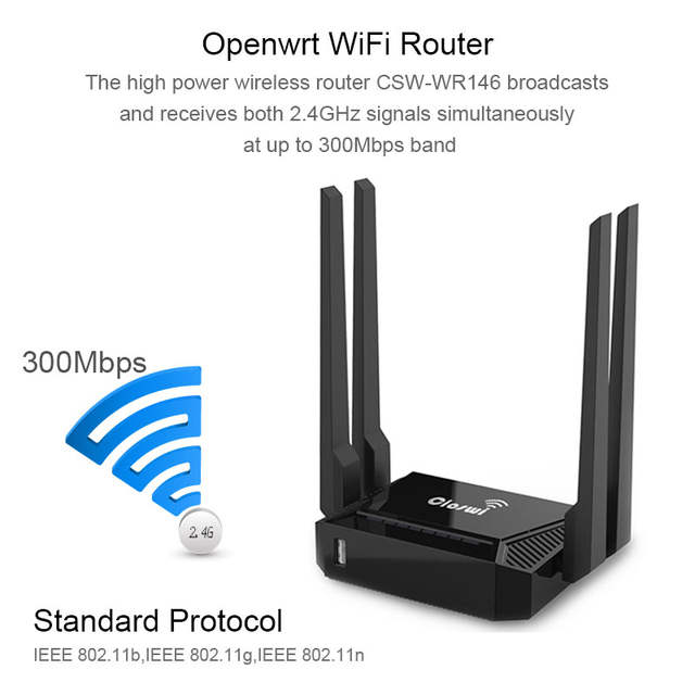 US $22 61 26% OFF|openWRT Router 300Mbps Access Point With 4 External  Antennas Hotspot 7620N CPU WiFi Wireless Router USB Sharing English  Version-in